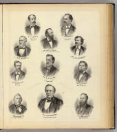 (Portraits of) B.F. Parker, T.D. Kanouse, James H. Foster, et al.