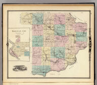 Map of Sauk County and Kilbourn City, State of Wisconsin.