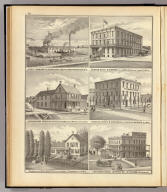 Novelty Iron Works, E. Schumacher & Sons, props., Port Washington, Wis. (with) Dunham House, H. Dunham Prop., Berlin, Green Lake Co., Wis. (with) American House, Edward McCaffery prop., Monttelo (sic), Marquette Co., Wis. (with) Vosburg House, F.B. Vosburg, prop., Waupaca, Waupaca Co., Wis. (with) Residence of John Whittet ... Sumner Tp., Jefferson Co., Wis. (with) Jefferson House (and Stamms Hall), Jefferson, Wis., Wm. Stamm, proprietor. (Compiled and published by Snyder, Van Vechten & Co., Milwaukee. 1878)