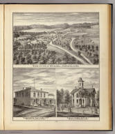 Birds eye view of Whitehall, Camp's Block, Whitehall, School, Galesville, Wis.