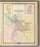 Maps of Stevens Point, Elroy and Wonewoc.