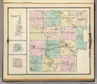 Map of Marquette County & Westfield, Harrisville & Packwaukee, Wisconsin.