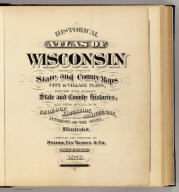 Title Page: Historical atlas of Wisconsin.