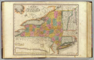 Map of the State of New-York and the surrounding country by David H. Burr. Compiled from his large map of the State, 1832. (with) Profile of the Grand Erie Canal. (with) Profile of the Champlain Canal. (with) Profile of the Seneca Canal. Entered according to Act of Congress Jany. 5th., 1829 by David H. Burr of the State of New York. Engd. by Rawdon, Clark & Co., Albany & Rawdon, Wright & Co., New York.