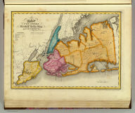 Map of the counties of New York, Queens, Kings and Richmond. By David H. Burr. Published by the Surveyor General, pursuant to an Act of the Legislature. Entered according to an Act of Congress Jany. 5th. 1829 by David H. Burr of the State of New York. Engd. by Rawdon, Clark & Co., Albany & Rawdon, Wright & Co., New York.