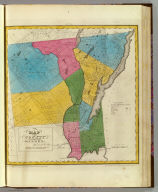 Map of the County of Warren. By David H. Burr. Published by the Surveyor General, pursuant to an Act of the Legislature. Entered according to an Act of Congress Jany. 5th. 1829 by David H. Burr of the State of N. York. Engd. by Rawdon, Clark & Co., Albany & Rawdon, Wright & Co., N.Y.