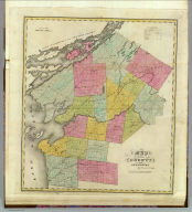 Map of the County of Jefferson. By David H. Burr. Published by the Surveyor General, pursuant to an Act of the Legislature. Entered according to an Act of Congress Jany. 5th. 1829 by David H. Burr of the State of New York. Engd. by Rawdon, Clark & Co., Albany & Rawdon, Wright & Co., N. York.