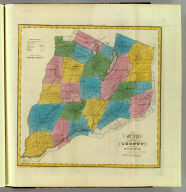 Map of the County of Otsego. By David H. Burr. Published by the Surveyor General, pursuant to an Act of the Legislature. Entered according to an Act of Congress Jany. 5th. 1829 by David H. Burr of the State of New York. Engd. by Rawdon, Clark & Co., Albany & Rawdon, Wright & Co., New York.
