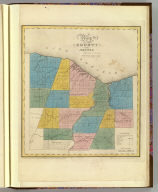 Map of the County of Monroe. By David H. Burr. Published by the Surveyor General, pursuant to an Act of the Legislature. Entered according to an Act of Congress Jany. 5th. 1829 by David H. Burr of the State of New York. Engd. by Rawdon, Clark & Co., Albany & Rawdon, Wright & Co., N.Y.