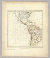 (World on gnomonic projection. II. America). No.2. Published by Baldwin & Cradock, 47 Paternoster Row June 1831. Under the superintendence of the Society for the Diffusion of Useful Knowledge. Engraved by J. & C. Walker.