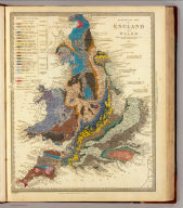 Geological map, England, Wales.