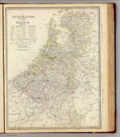 The Netherlands, de Nederlanden, and Belgium, La Belgique. Published for the Society for the Diffusion of Useful Knowledge, by Chapman & Hall, 186 Strand, October 1, 1843. J & C. Walker sculpt. (1844)