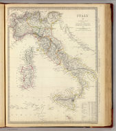 Italy IV, general map including Sicily, Malta, Sardinia, Corsica, &c. Published by the Society for the Diffusion of Useful Knowledge, April 18th. 1840. Engraved by J. & C. Walker. (London: Chapman and Hall, 1844)