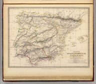Ancient Spain & Portugal, Hispania or Iberia. By Philip Smith, Univ. Coll., London. Published under the superintendence of the Society for the Diffusion of Useful Knowledge. J. & C. Walker, sculpt. London, published by Chapman & Hall, 186, Strand, Decr. 1st. 1838. (1844)