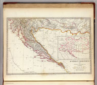 Austrian Dominions III. Croatia, Sclavonia and Dalmatia. (with) The Empire of Austria. Published by the Society for the Diffusion of Useful Knowledge. J. & C. Walker sculpt. London, published by Baldwin & Cradock, 47 Paternoster Row, Novr. 1st. 1832. (London: Chapman & Hall, 1844)