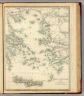 Grecian Archipelago, ancient, by William Smith L.L.D. Published under the superintendence of the Society for the Diffusion of Useful Knowledge. Engraved by J. & C. Walker. Published by Chapman & Hall 186 Strand April 1st. 1843 (1844)
