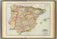 Rand, McNally & Company's indexed atlas of the world map of Spain and Portugal. Copyright 1892, by Rand, McNally & Co. ... Engravers, Chicago, (1897)
