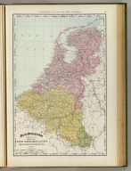 Rand, McNally & Co.'s new 14 x 21 map of the Netherlands, Belgium & Luxemburg. Copyright 1895, by Rand, McNally & Co. (Chicago, 1897)