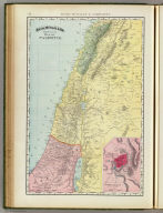 Rand, McNally & Co.'s new 14 x 21 map of Palestine. (with) Modern Jerusalem and environs. Copyright 1895, by Rand, McNally & Co. (Chicago, 1897)