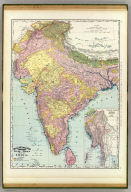 Rand, McNally & Company's indexed atlas of the world map of India. (with) Southeastern provinces of India, Further India. (with) Nicobar Islands. Copyright 1892, by Rand, McNally & Co. ... Engravers, Chicago, (1897)