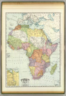 Rand, McNally & Company's indexed atlas of the world map of Africa. (with) Canal of Suez. Copyright 1895, by Rand, McNally & Co. ... Engravers, Chicago, (1897)