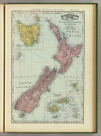 Rand, McNally & Co.'s indexed atlas of the world map of New Zealand, Tasmania, and the Fiji Islands. (with) Chatham Islands. (with) King Island. Copyright 1892, by Rand, McNally & Co. (Chicago, 1897)