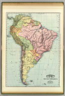 Rand, McNally & Co.'s indexed atlas of the world map of South America. Copyright 1892, by Rand, McNally & Co. ... Engravers, Chicago, (1897)