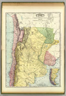 Rand, McNally & Co.'s indexed atlas of the world map of Argentine Republic, Chile, Paraguay, and Uruguay. Copyright 1892, by Rand, McNally & Co. (Chicago, 1897)