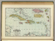 Rand, McNally & Co.'s indexed atlas of the world map of the West Indies. Copyright 1892, by Rand, McNally & Co. ... Engravers, Chicago, (1897)
