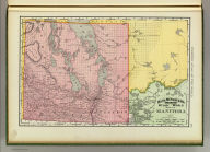 Rand, McNally & Co.'s indexed atlas of the world map of Manitoba. Rand, McNally & Co's. New business atlas map of Manitoba. Copyright, 1892, by Rand, McNally & Co. (Chicago, 1897)