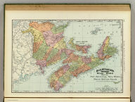 Rand, McNally & Co.'s indexed atlas of the world map of New Brunswick, Nova Scotia and Prince Edward Island, the Maritime Provinces of Canada. Rand, McNally & Co's. New business atlas map of the Maritime Provinces of Canada. Copyright, 1893, by Rand, McNally & Co. (Chicago, 1897)