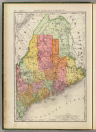 Rand, McNally & Co.'s New business atlas map of Maine. Copyright, 1893, by Rand, McNally & Co. (Chicago, 1897)