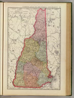 Rand, McNally & Co.'s New business atlas map of New Hampshire. Copyright, 1894, by Rand, McNally & Co. (Chicago, 1897)