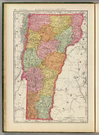 Rand, McNally & Co.'s New business atlas map of Vermont. Copyright, 1894, by Rand, McNally & Co. (Chicago, 1897)