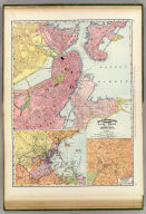 Rand, McNally & Co.'s indexed atlas of the world map of Boston. Rand, McNally & Co's New business atlas map of Boston. Copyright, 1891, by Rand, McNally & Co., Chicago. (1897)