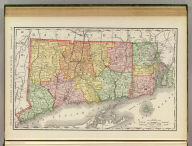 Rand, McNally & Co.'s New business atlas map of Connecticut & Rhode Island. Copyright, 1888, by Rand, McNally & Co. (Chicago, 1897)