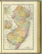 Rand, McNally & Co.'s New business atlas map of New Jersey. Copyright, 1894, by Rand, McNally & Co. (Chicago, 1897)