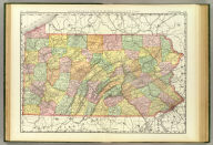 Rand, McNally & Co.'s New business atlas map of Pennsylvania. Copyright, 1888, by Rand, McNally & Co. (Chicago, 1897)
