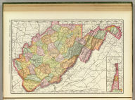Rand, McNally & Co.'s New business atlas map of West Virginia. Copyright, 1888. ... Rand, McNally & Co., Engr's., Chicago. (1897)