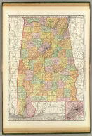 Rand, McNally & Co.'s New business atlas map of Alabama. Copyright, 1894, by Rand, McNally & Co. (Chicago, 1897)