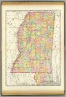 Rand, McNally & Co.'s New business atlas map of Mississippi. Copyright, 1892, by Rand, McNally & Co. (Chicago, 1897)