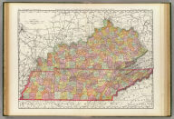 Rand, McNally & Co.'s New business atlas map of Kentucky & Tennessee. Copyright, 1889, by Rand, McNally & Co. (Chicago, 1897)