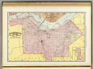 Rand, McNally & Co.'s indexed atlas of the world map of Louisville. Rand, McNally & Co's New business atlas map of Louisville, Ky. Copyright, 1892 ... Rand, McNally & Co., Engravers, Chicago. (1897)