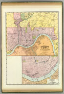 Rand, McNally & Co.'s indexed atlas of the world map of Cincinnati and environs. Rand, McNally & Co's New business atlas map of Cincinnati. Copyright, 1891 ... Rand, McNally & Co., Engravers, Chicago. (1897)