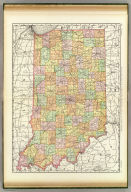 Rand, McNally & Co.'s New business atlas map of Indiana. Copyright, 1889, by Rand, McNally & Co. (Chicago, 1897)