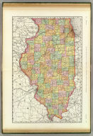 Rand, McNally & Co.'s New business atlas map of Illinois. Copyright, 1889, by Rand, McNally & Co. (Chicago, 1897)