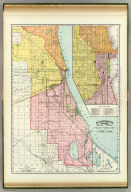 Rand, McNally & Co.'s indexed atlas of the world railway terminal map of Chicago. Rand, McNally & Co's new business atlas map of Chicago. Copyright, 1892, by Rand, McNally & Co., Chicago. (1897)