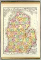 Rand, McNally & Co.'s New business atlas map of Michigan. Copyright, 1889, by Rand, McNally & Co. (Chicago, 1897)