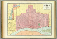 Rand, McNally & Co.'s indexed atlas of the world map of Detroit and vicinity. Copyright, 1893, by Rand, McNally & Co. (Chicago, 1897)