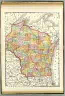 Rand, McNally & Co.'s New business atlas map of Wisconsin. Copyright, 1889, by Rand, McNally & Co. (Chicago, 1897)